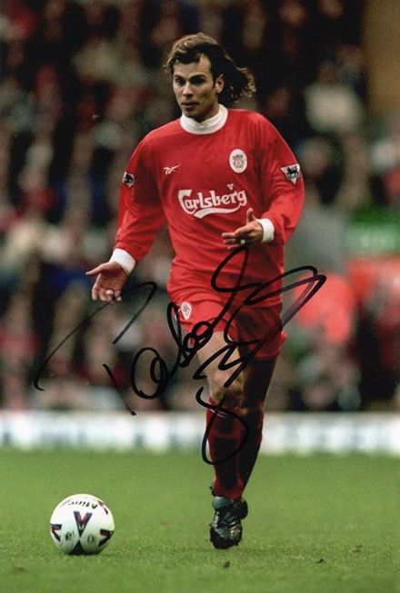 Patrik Berger, Liverpool, signed 12x8 inch photo.